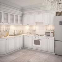 темный интерьер элитной кухни в стиле модерн картинка