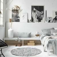 яркий декор коридора в шведском стиле фото