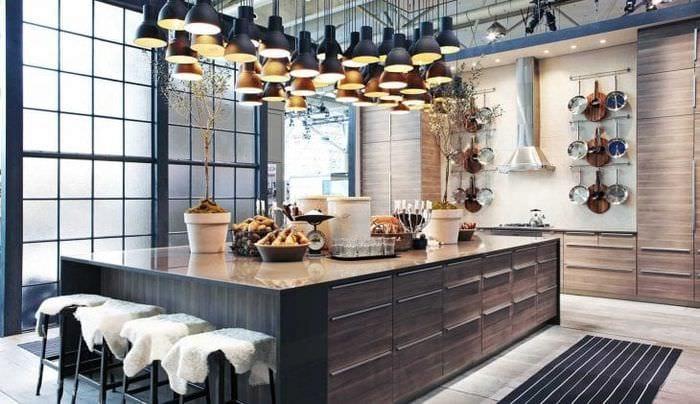 красивый декор гостиной в стиле фьюжн