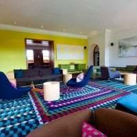 шикарный декор гостиной в стиле бохо фото