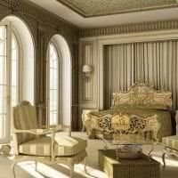 светлый интерьер квартиры в стиле барокко фото