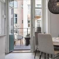 необычный интерьер коридора в шведском стиле фото
