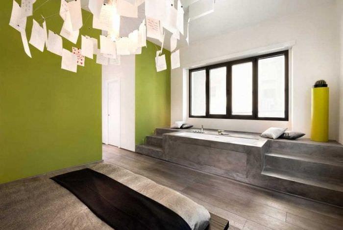 красивый декор спальни в стиле авангард