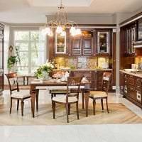 светлый стиль элитной кухни в стиле арт деко картинка