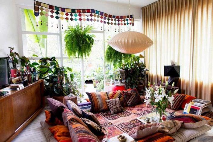 необычный декор квартиры в стиле бохо