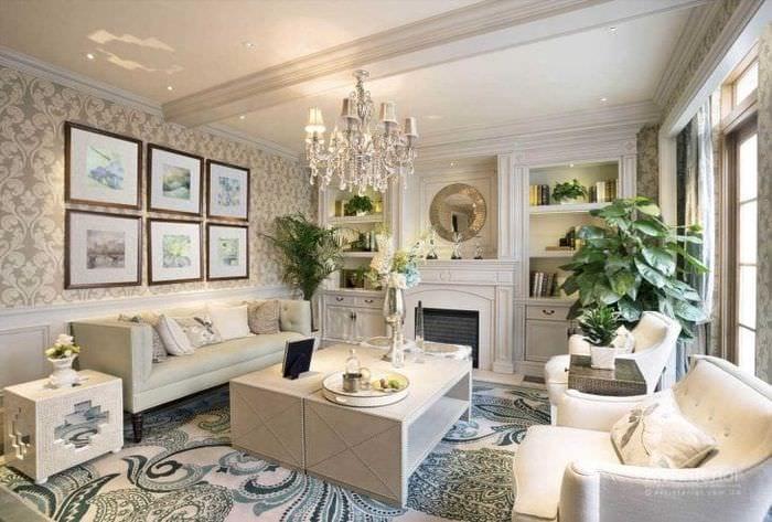 светлый эргономичный дизайн квартиры