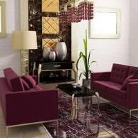 светлый фиолетовый диван в стиле коридора фото