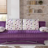 светлый фиолетовый диван в стиле спальни картинка