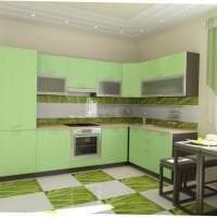 яркий фисташковый цвет в декоре квартиры фото