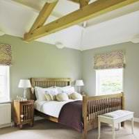 красивый фисташковый цвет в стиле спальни картинка