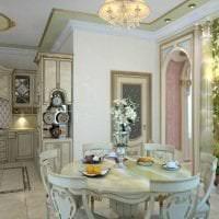яркий дизайн элитной кухни в стиле арт деко картинка