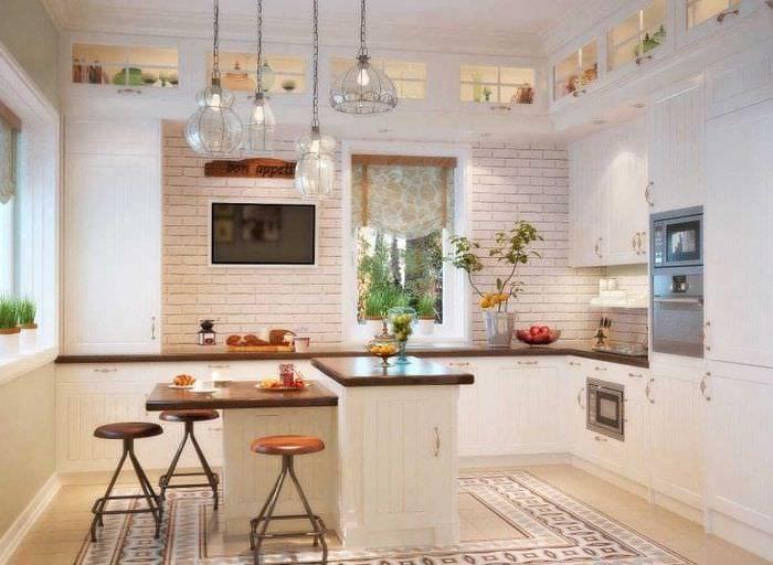 красивый стиль элитной кухни в стиле классика