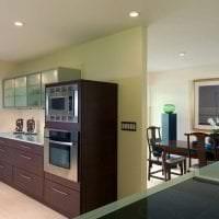 светлый дизайн гостиной в цвете венге картинка
