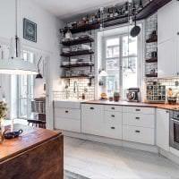 яркий дизайн спальни в шведском стиле картинка