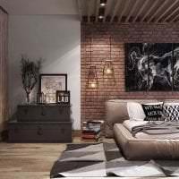 красивый интерьер квартиры в стиле лофт картинка