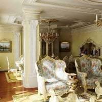светлый интерьер коридора в стиле барокко картинка