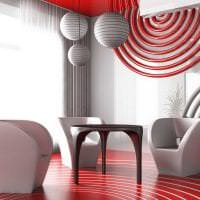яркий дизайн квартиры в стиле авангард картинка