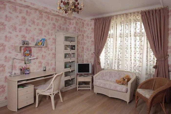 светлый интерьер спальни в стиле прованс