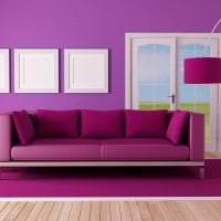 светлый интерьер коридора в фиолетовом цвете фото