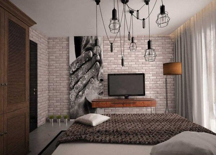 красивый дизайн квартиры в стиле лофт