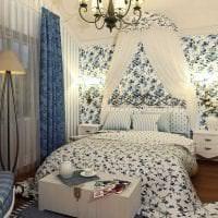 красивый дизайн гостиной в стиле прованс картинка