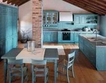 светлый декор элитной кухни в стиле модерн фото