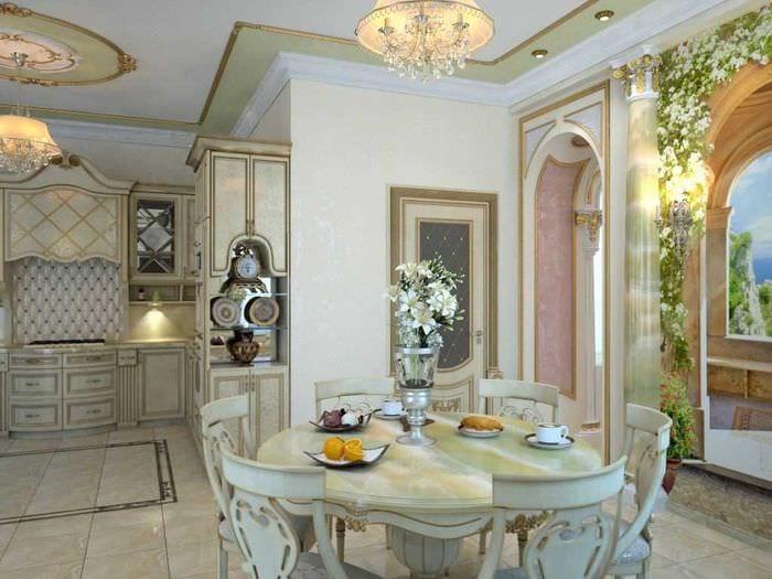 яркий дизайн элитной кухни в стиле модерн