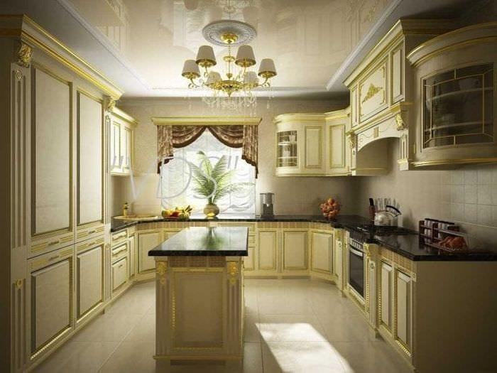 светлый эргономичный интерьер кухни