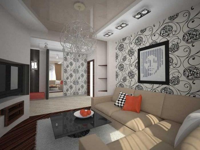 светлый эргономичный дизайн коридора