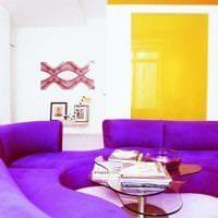 светлый фиолетовый диван в стиле гостиной фото