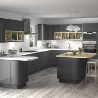 красивый интерьер элитной кухни в стиле арт деко фото
