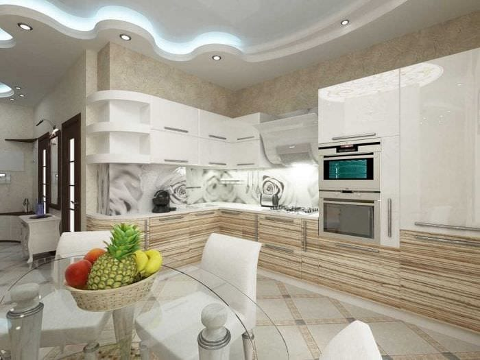 яркий стиль элитной кухни в стиле модерн