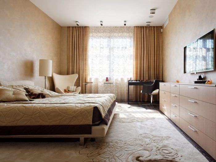 уютный необычный интерьер гостиной