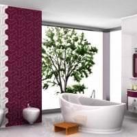 насыщенный бордовый цвет в интерьере кухни картинка