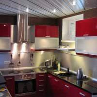 яркий бордовый цвет в стиле коридора фото