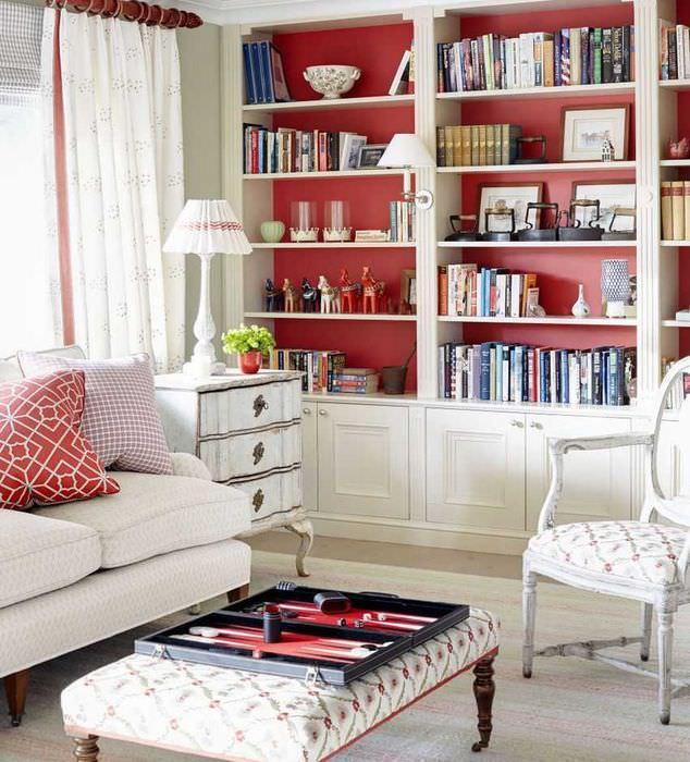 красивый бордовый цвет в стиле квартиры