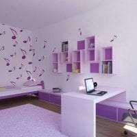 необычный дизайн квартиры в фиолетовом цвете фото