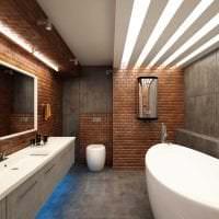 необычный декор коридора в стиле лофт картинка