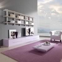 яркий интерьер прихожей в фиолетовом цвете фото
