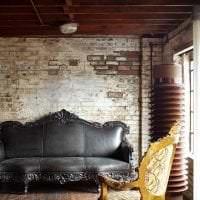 светлый интерьер квартиры в стиле гранж картинка