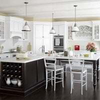 красивый стиль элитной кухни в стиле арт деко фото