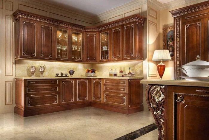 светлый декор элитной кухни в стиле модерн