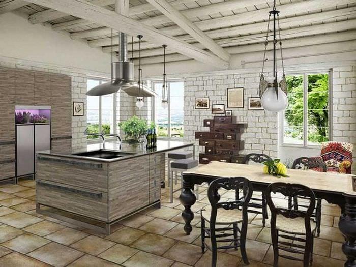 светлый стиль кухни в стиле прованс