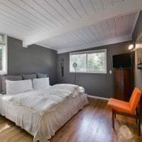 яркий дизайн спальни в шведском стиле фото