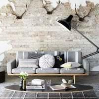 красивый интерьер гостиной в стиле гранж картинка