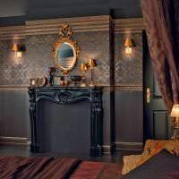красивый стиль гостиной в стиле барокко картинка