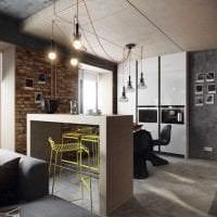 красивый дизайн коридора в стиле лофт картинка