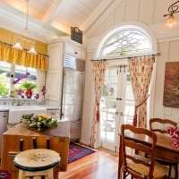 современный интерьер гостиной в стиле кантри фото