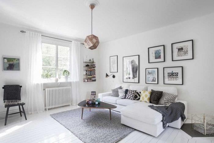 красивый стиль коридора в шведском стиле