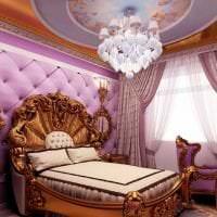 красивый декор гостиной в стиле барокко картинка
